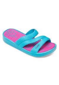 LANO - Klapki dziecięce basenowe Lano KL-2-1322 Niebieskie. Okazja: na plażę. Kolor: niebieski. Materiał: guma