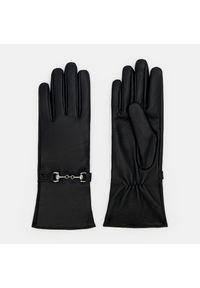 Mohito - Klasyczne skórzane rękawiczki - Czarny. Kolor: czarny. Materiał: skóra. Styl: klasyczny