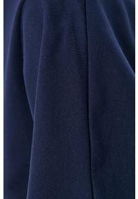Bomboogie - Sukienka. Okazja: na co dzień. Kolor: niebieski. Materiał: dzianina. Wzór: gładki. Typ sukienki: proste. Styl: casual