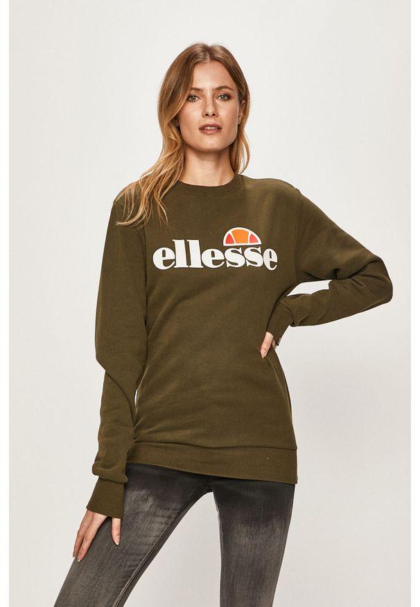 Zielona bluza Ellesse z nadrukiem, na co dzień