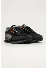 Czarne sneakersy Napapijri z okrągłym noskiem, na sznurówki, z cholewką