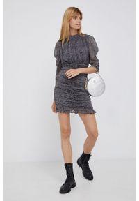 Pepe Jeans - Sukienka Sandrina. Kolor: czarny. Materiał: tkanina. Typ sukienki: dopasowane