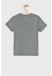 Szary t-shirt Polo Ralph Lauren na co dzień, casualowy, melanż, polo