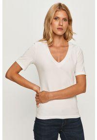 Biała bluzka Stefanel na co dzień, casualowa
