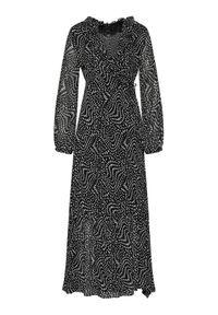 Czarna sukienka Pinko na co dzień, prosta, casualowa