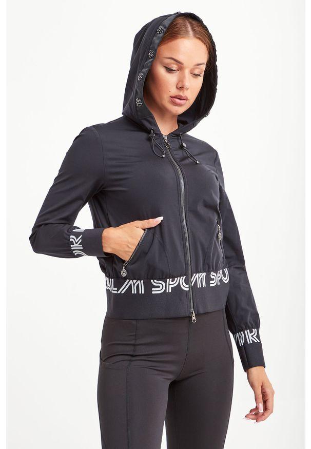 Bluza Sportalm z kapturem, w kolorowe wzory