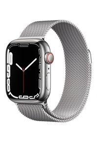 APPLE - Smartwatch Apple Watch 7 GPS+Cellular 41mm stal, srebrny | srebrna bransoleta mediolańska. Rodzaj zegarka: smartwatch. Kolor: srebrny