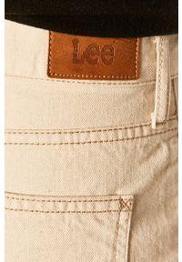Kremowe jeansy Lee na co dzień, casualowe