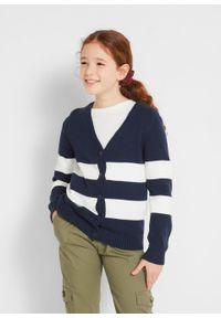 Niebieski sweter bonprix w paski #5