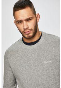 Szara bluza nierozpinana Calvin Klein z okrągłym kołnierzem, casualowa, na co dzień