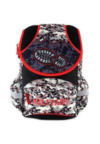 Czarny plecak Target militarny, w kolorowe wzory