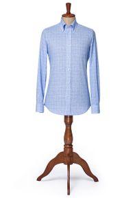 Niebieska koszula Lancerto vintage, na lato, button down