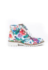 Botki Zapato w kwiaty, na co dzień