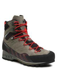 Zielone buty trekkingowe Mammut Gore-Tex, trekkingowe