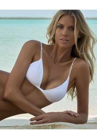 Melissa Odabash - MELISSA ODABASH - Biały top od bikini Maldives. Kolor: biały. Materiał: tkanina