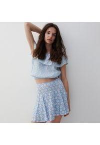 Reserved - Spódnica z szortami - Niebieski. Kolor: niebieski