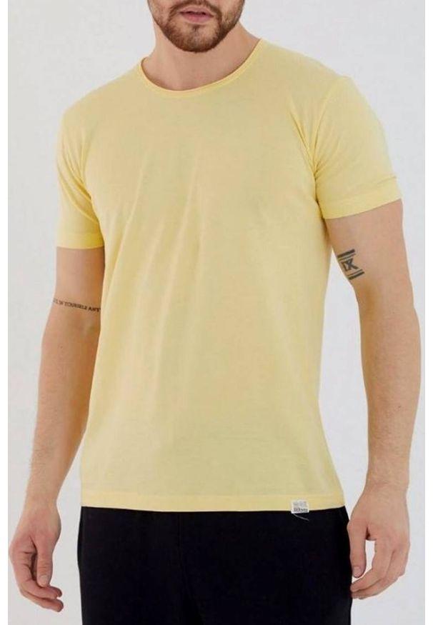 IVET - T-shirt męski FABER YELLOW. Okazja: na co dzień. Kolor: żółty. Materiał: materiał, jeans. Styl: casual, klasyczny