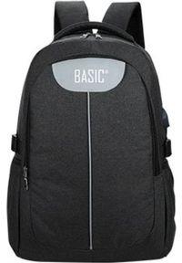 Beniamin Plecak młodzieżowy z USB Basic czarny. Kolor: czarny. Styl: młodzieżowy
