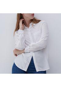 Reserved - Wzorzysta koszula z EcoVero™ - Kremowy. Kolor: kremowy