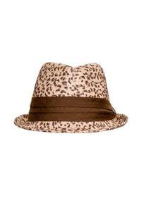 Hat You - Kapelusz HAT YOU. Kolor: beżowy. Wzór: aplikacja. Sezon: lato. Styl: elegancki