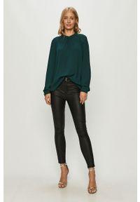 Zielona bluzka only z długim rękawem, długa, na co dzień