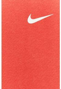 Nike - T-shirt. Okazja: na co dzień. Kolor: różowy. Materiał: włókno, skóra, tkanina. Wzór: nadruk. Styl: casual