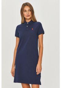 Niebieska sukienka Polo Ralph Lauren polo, prosta, na co dzień, mini