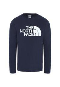Niebieska koszulka sportowa The North Face długa, z długim rękawem