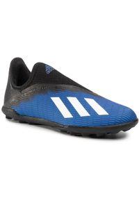 Adidas - Buty adidas - X 19.3 Ll Tf J EG9839 Royblu/Ftwwht/Cblack. Kolor: niebieski. Materiał: skóra ekologiczna, materiał, skóra