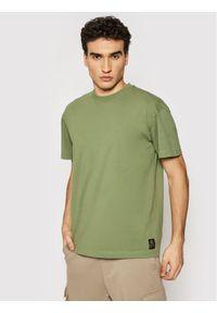 Deus Ex Machina T-Shirt Plain Military DMP201810 Zielony Box Fit. Kolor: zielony