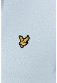 Niebieska bluza nierozpinana Lyle & Scott z kapturem, casualowa, na co dzień, gładkie