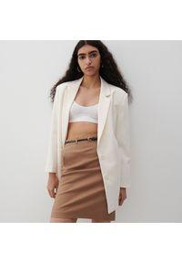Beżowa spódnica Reserved elegancka