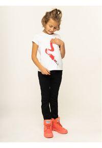 Emporio Armani T-Shirt 6G3T01 3J2IZ 0101 Biały Regular Fit. Kolor: biały
