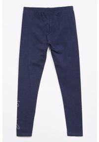 Niebieskie legginsy Guess gładkie