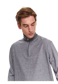 TOP SECRET - Bluza ze stójką. Typ kołnierza: kołnierzyk stójkowy. Kolor: szary #4