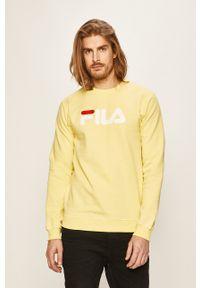 Fila - Bluza. Okazja: na co dzień. Kolor: żółty. Wzór: nadruk. Styl: casual