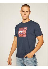 Niebieski t-shirt Tommy Jeans z nadrukiem
