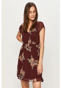 Brązowa sukienka Vero Moda prosta, mini, casualowa