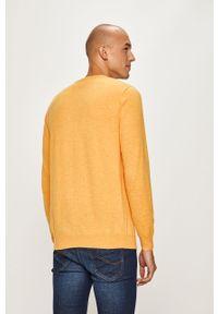 Żółty sweter Wrangler casualowy, na co dzień, z okrągłym kołnierzem