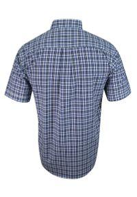 ForMax - Koszula Bawełniana, Niebiesko-Biała Casualowa z Krótkim Rękawem, z Kieszonkami, w Kratkę Slim-FORMAX. Okazja: na co dzień. Kolor: niebieski. Materiał: bawełna. Długość rękawa: krótki rękaw. Długość: krótkie. Wzór: kratka. Styl: casual