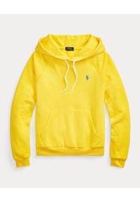 Ralph Lauren - RALPH LAUREN - Żółta bluza z kapturem Relaxed fit. Typ kołnierza: kaptur. Kolor: żółty. Materiał: materiał. Długość rękawa: długi rękaw. Długość: długie