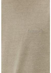 Levi's® - Levi's - T-shirt bawełniany. Okazja: na spotkanie biznesowe. Kolor: zielony. Materiał: bawełna. Wzór: gładki. Styl: biznesowy
