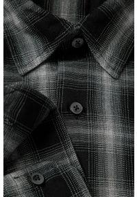 Czarna koszula Strellson na co dzień, z klasycznym kołnierzykiem, długa