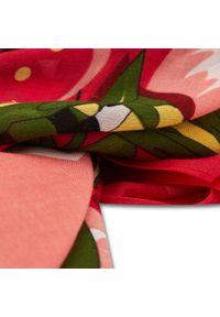 Marella - Szal MARELLA - Canard 654103142 002. Kolor: czerwony. Materiał: wiskoza, materiał