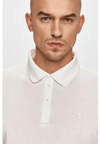 Biała koszulka polo Trussardi Jeans na co dzień, gładkie
