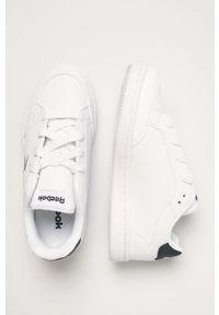 Białe buty sportowe Reebok Classic z okrągłym noskiem, Reebok Classic, z cholewką