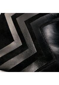 Czarne botki Eva Longoria na średnim obcasie, na obcasie
