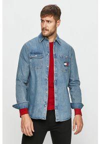 Niebieska koszula Tommy Jeans długa, z długim rękawem