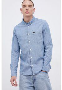 Lee - Koszula jeansowa. Typ kołnierza: button down. Kolor: niebieski. Materiał: jeans