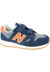 Niebieskie sneakersy New Balance z cholewką, w kolorowe wzory